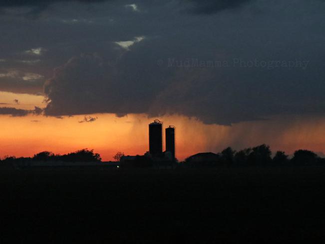 Distant storm Stratford, Ontario Canada