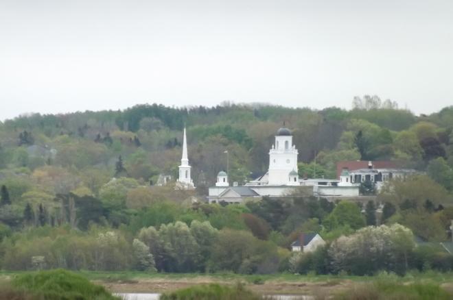 Acadia U-hall and chapel Wolfville, Nova Scotia Canada