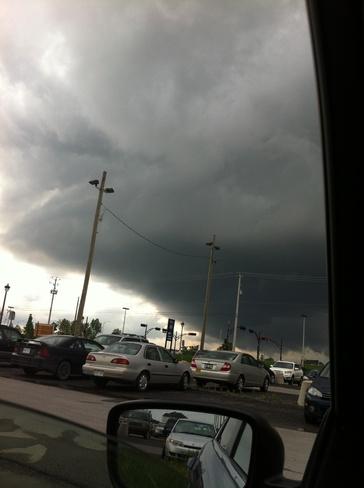 Approaching storm Vaudreuil-Dorion, Quebec Canada