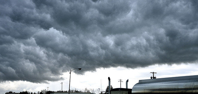 Storm clouds Sherwood Park, Alberta Canada