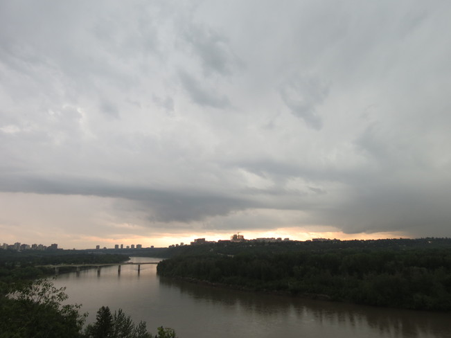 thunder storm Edmonton, Alberta Canada