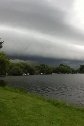 scary clouds Azilda, Ontario Canada