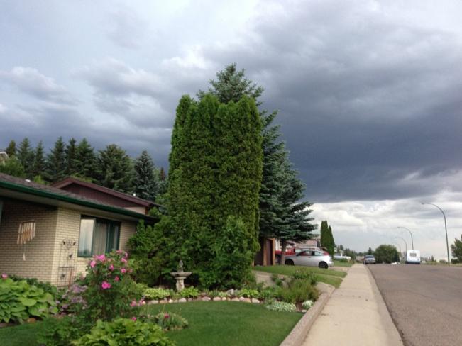 Storm approaching Medicine Hat, Alberta Canada
