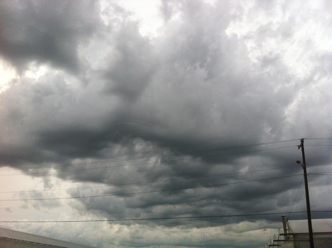 Hail Storm Cloud Redcliff, Alberta Canada