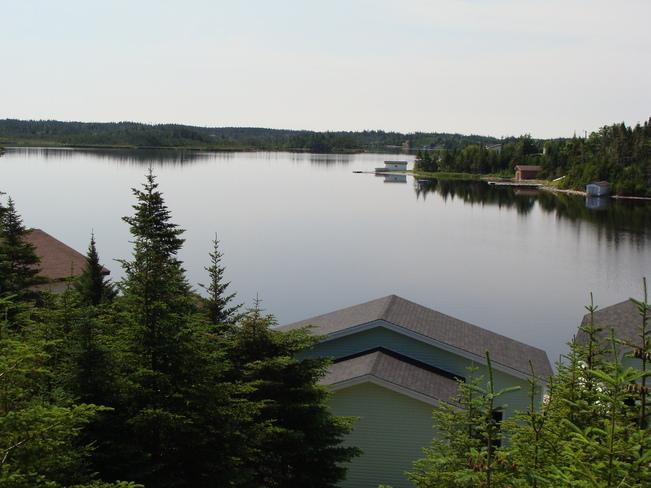 Patio Deck View Gull Pond in Deer Park Salmonier, Newfoundland and Labrador Canada