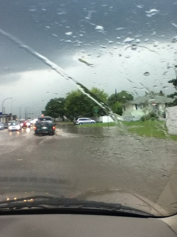 Flooding Lethbridge, Alberta Canada