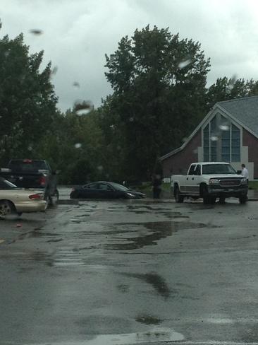 Car Under Water Okotoks, Alberta Canada