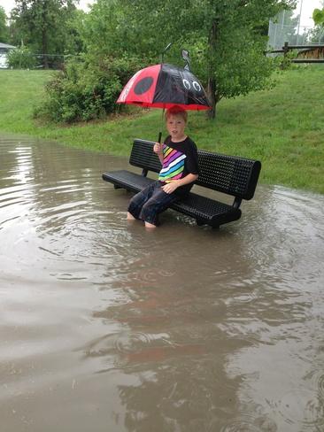 Flooded Park Regina, Saskatchewan Canada
