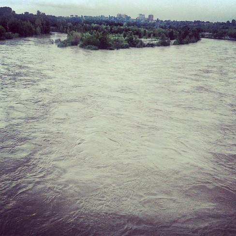 Flooded parkway-YYC Calgary, Alberta Canada