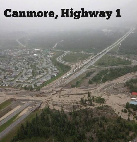 flood Canmore, Alberta Canada