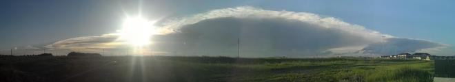Scary storm cloud Saskatoon, Saskatchewan Canada
