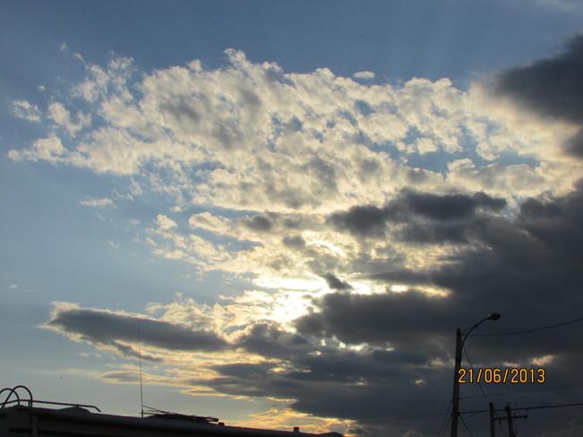 thunder clouds Joggins, Nova Scotia Canada