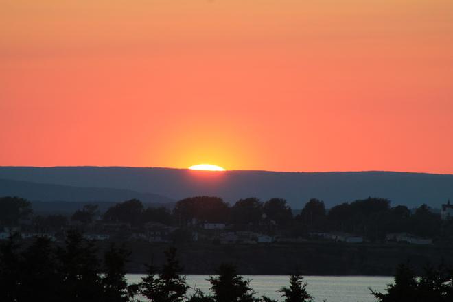Sunset Sydney, Nova Scotia Canada