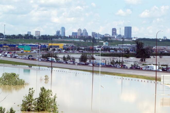 Calgary Flood Area Okotoks, Alberta Canada