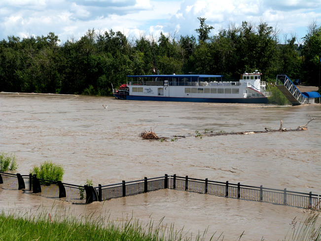 North Saskatchewan River rising June 23, 2013 Edmonton, Alberta Canada