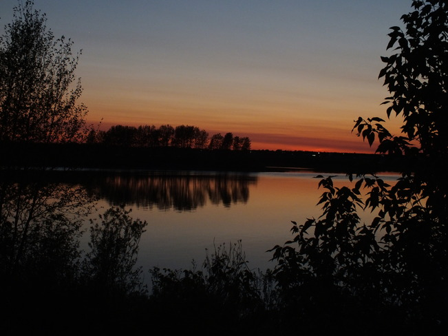 sunset shot Moose Factory, Ontario Canada