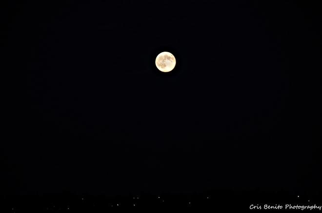 Super moon Red Deer, Alberta Canada