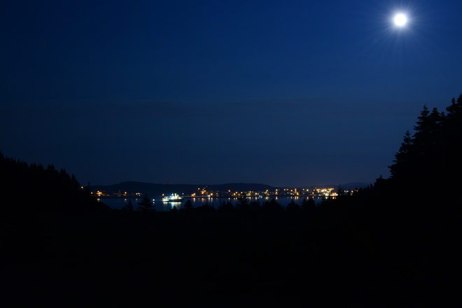 Beautiful Super Moon Twillingate, Newfoundland and Labrador Canada