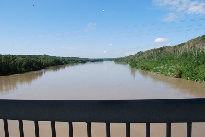 North Saskatchewan river Edmonton, Alberta Canada
