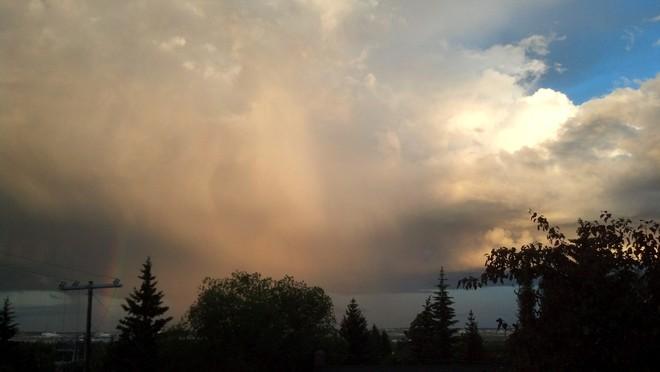 Calgary NW after a hailstorm Calgary, Alberta Canada