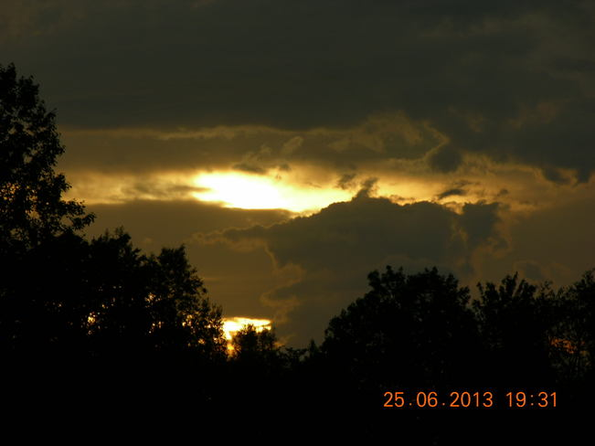 Losing the sun Salisbury, New Brunswick Canada