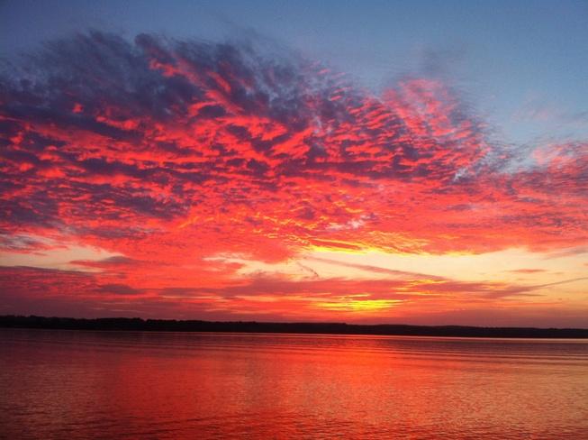 sunset over georgian bay Owen Sound, Ontario Canada