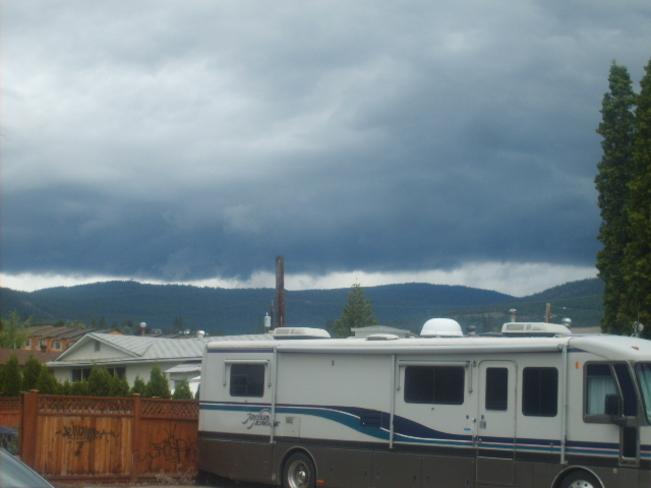 Dark Clouds Moving In West Kelowna, British Columbia Canada