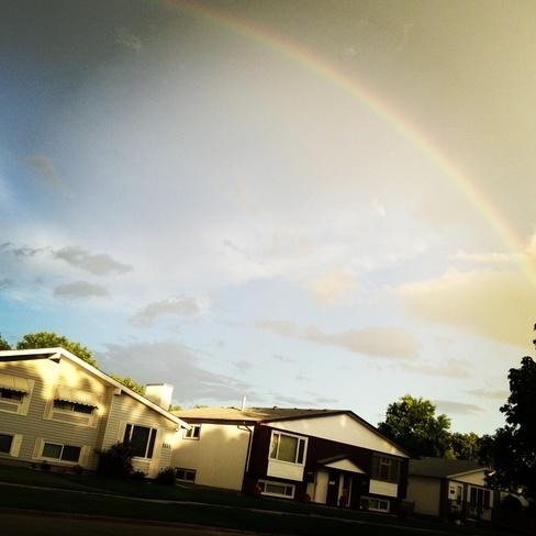 beautiful rainbow Winnipeg, Manitoba Canada
