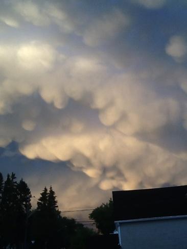 Painted sky Kenora, Ontario Canada