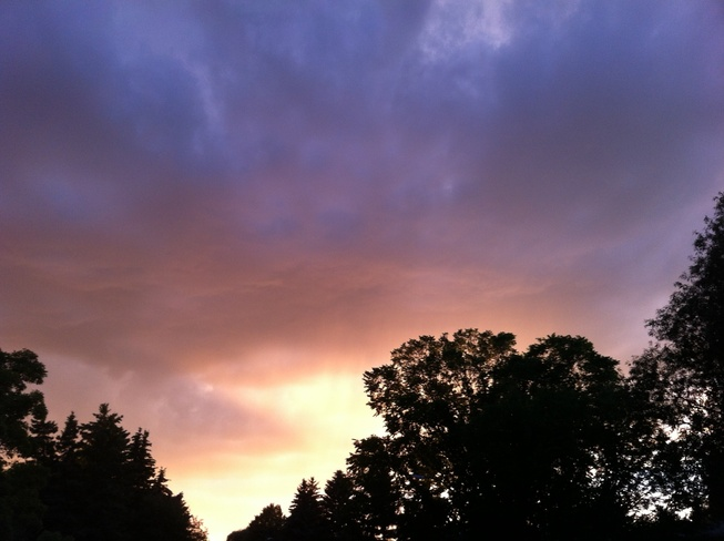 oncoming storm Saskatoon, Saskatchewan Canada