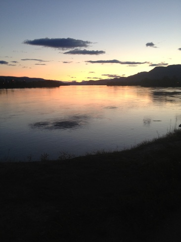 sunset on the thompson Kamloops, British Columbia Canada