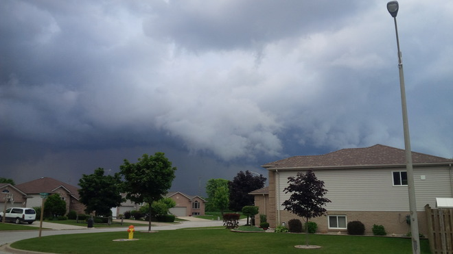 The thunder rolls. Kingsville, Ontario Canada