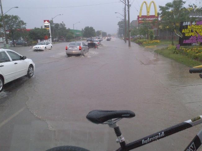 highland road flooding Kitchener, Ontario Canada