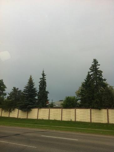 dark clouds and skie's Edmonton, Alberta Canada