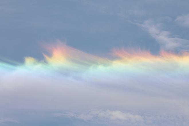 rainbow clouds Alexandria, Ontario Canada