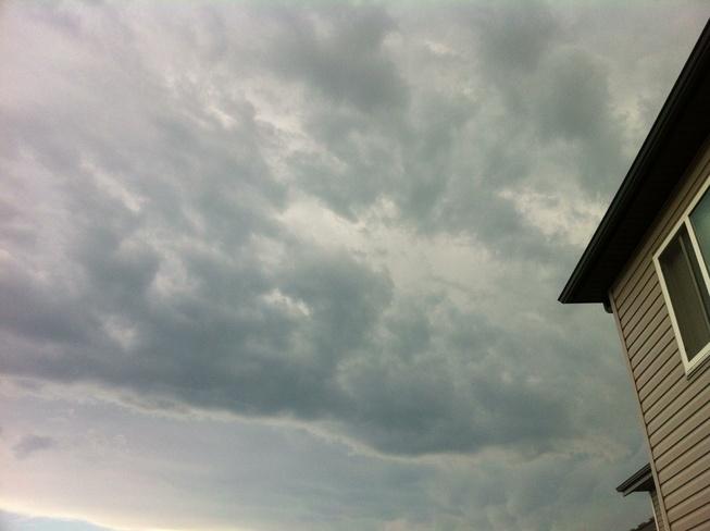 thunder clouds Leduc, Alberta Canada