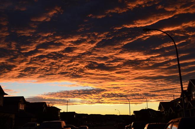 Tonight's sunset Fort McMurray, Alberta Canada
