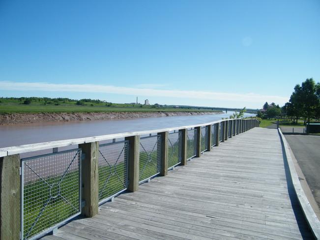 Riverview boardwalk Moncton, New Brunswick Canada