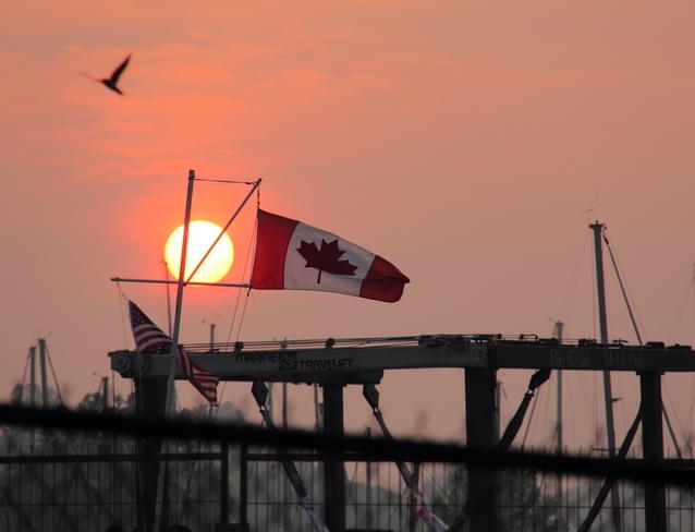 Dover Sunrise Today. Port Dover, Ontario Canada