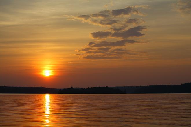 Golden Sunset Over Fairbanks Sudbury, Ontario Canada
