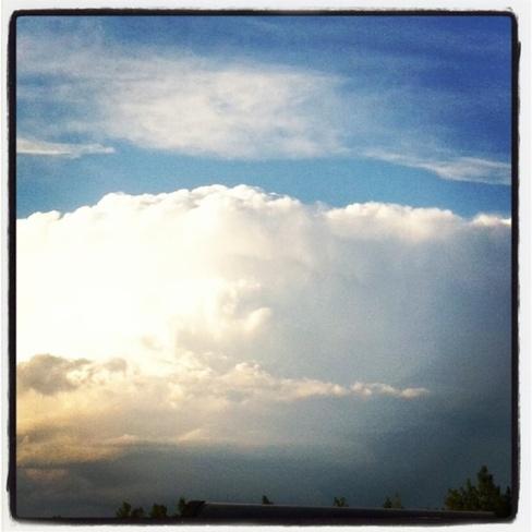 storm clouds brewing Irvine, Alberta Canada