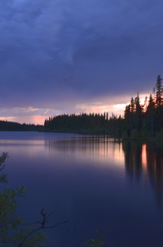 Stormy sky Kamloops, British Columbia Canada