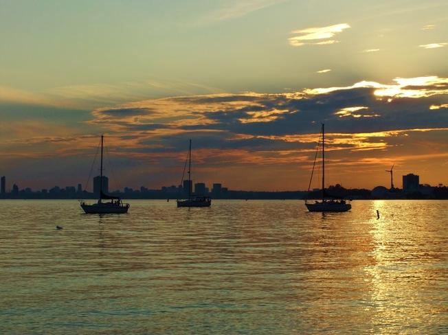 Sunset from Toronto Islands Toronto, Ontario Canada