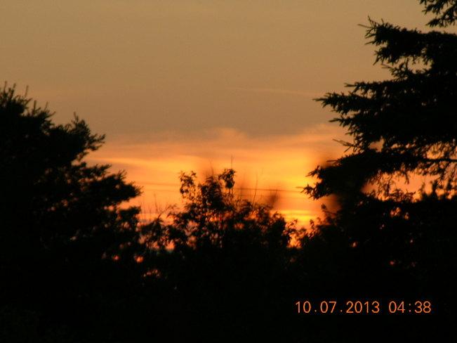 Sunrise waking up Salisbury, New Brunswick Canada