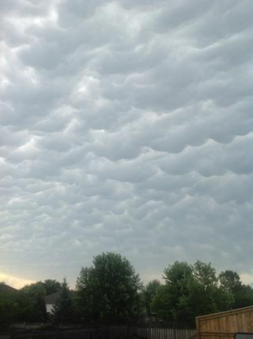 Popcorn clouds Windsor, Ontario Canada