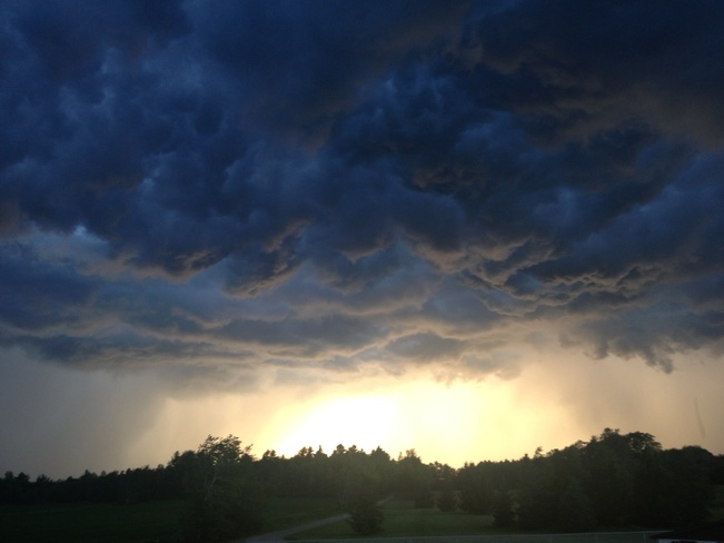 the calm before the storm Terrebonne, Quebec Canada