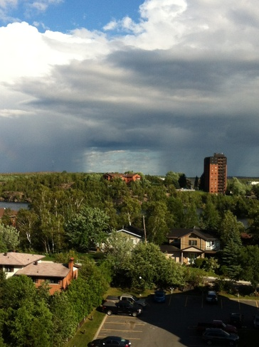 strange sky Sudbury, Ontario Canada