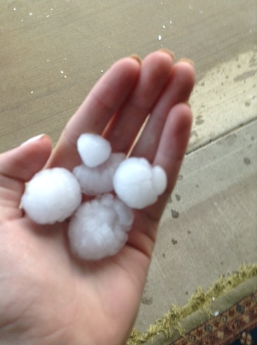hail Edmonton, Alberta Canada