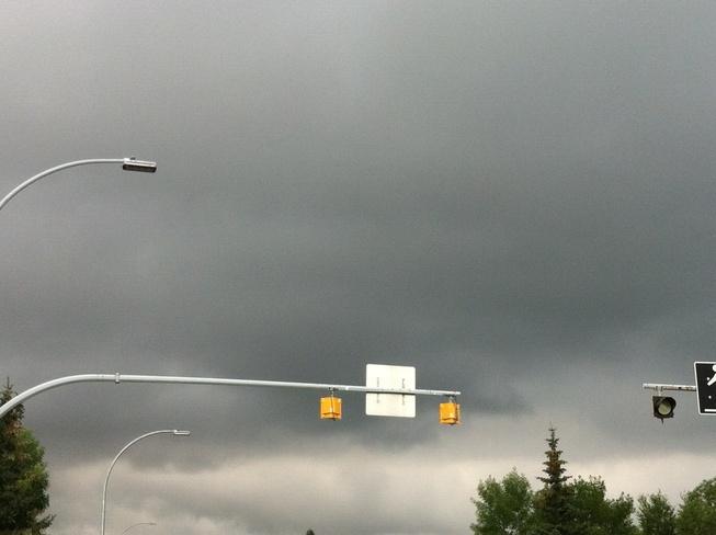 Clouding over Edmonton, Alberta Canada
