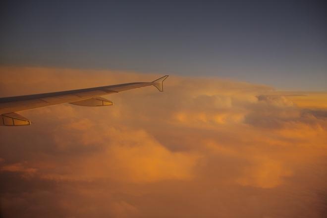 inflight Edmonton-Toronto (sunset) Toronto, Ontario Canada